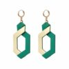 earrings leather reversible camille roussel woman fashion