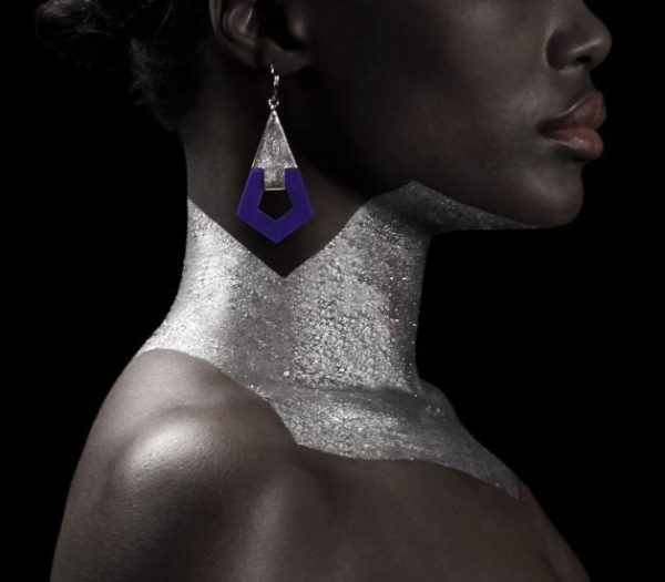 Camille Roussel bijoux boucles d'oreille ruby cuir luxe