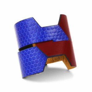 camille roussel mado reversible leather cuff jewellery woman