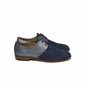 Derbies Blue Night and Glitter by Pied de Biche