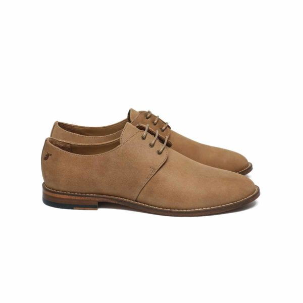 derbies man shoes sand leather handmade french brand