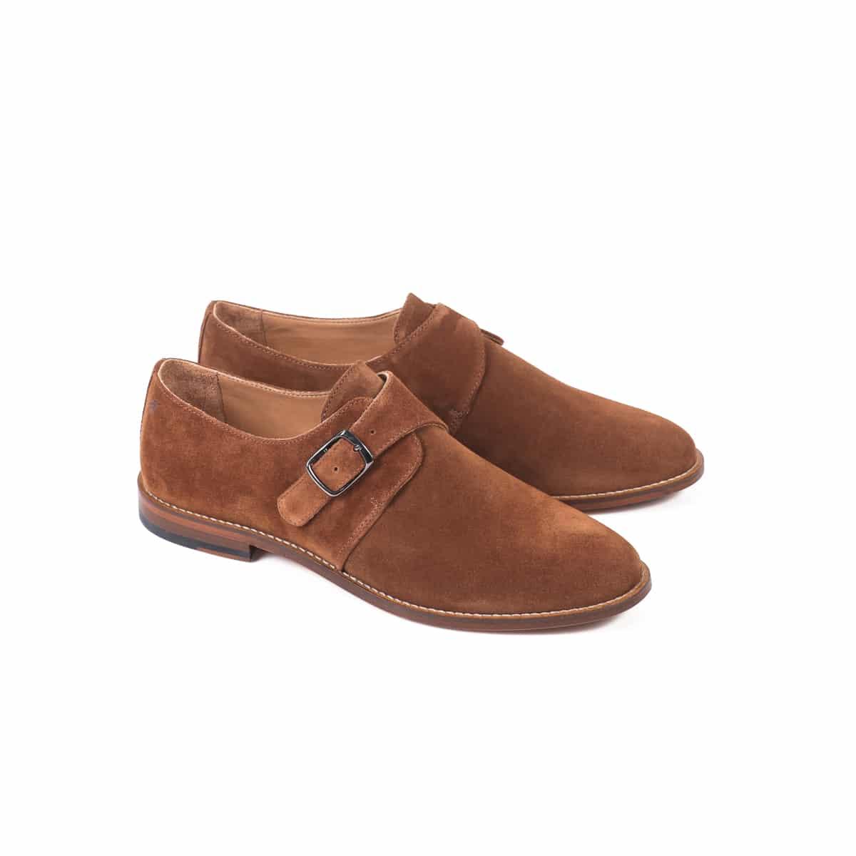 derbies boucle cuir nubuck chaussures mode homme sable pied de biche