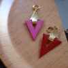 earrings reversible leather camille roussel zora