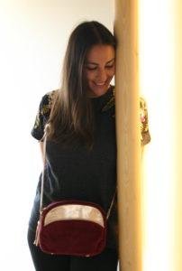 bag bonnie maradji leather burgundy red fashion accessories woman