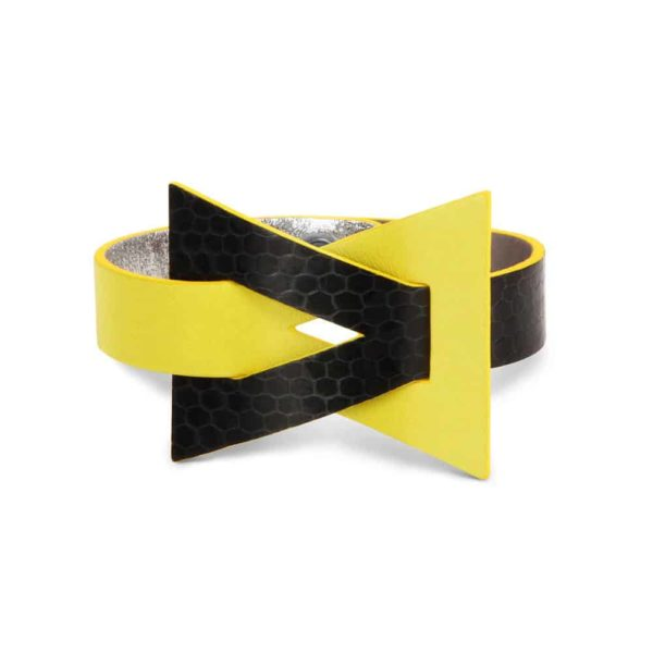 Isis luxury reversible leather cuff camille roussel paris woman handmade jewel jewellery