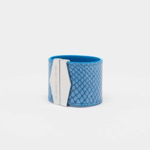 isadora limare cuff bracelet salmon leather