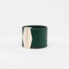 isadora limare forest green cuff bracelet woman fashion salmon fish leather