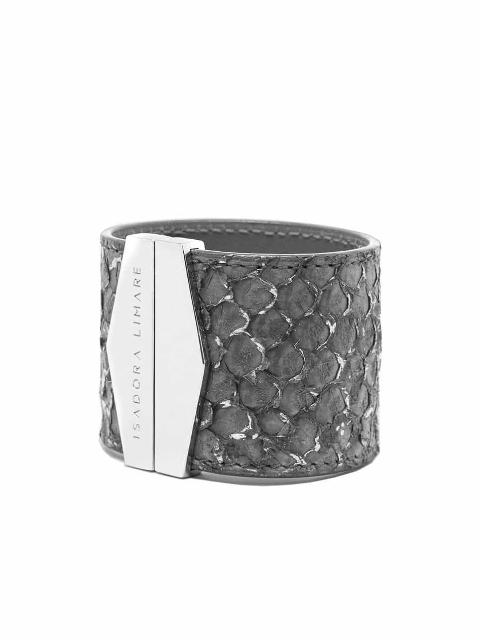 Manchette Silver Grey par Isadora Limare