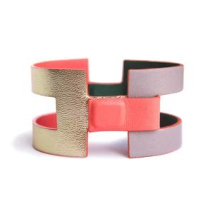 camille roussel paris reversible leather cuff juliette woman jewel handmade jewellery
