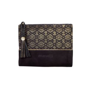 alphonse velvet purse clutch black maradji handmade paris fashion accessories woman