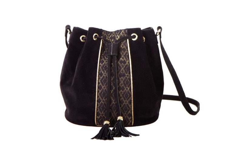 biba bag woman maradji fashion woman black ebony golden