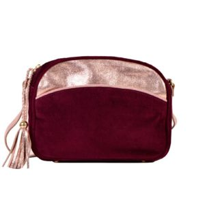 hal moon bonnie bag leather velvet burgundy maradji l'erudite concept store
