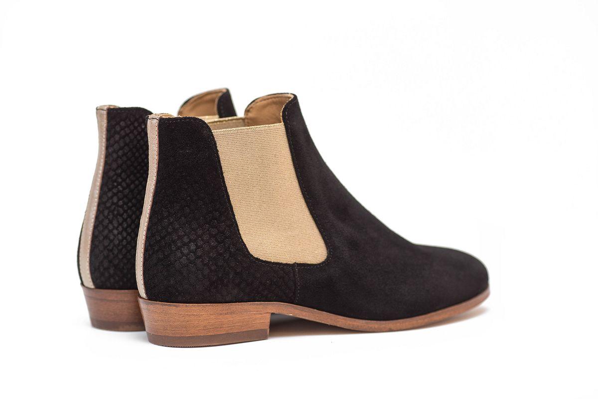chelsea bottines bottes cuir velours femme chaussures pied de biche woman womenstyle L'Erudite Concept Store