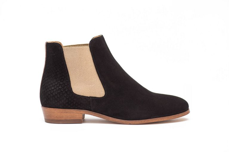 Chelsea boots Black and Gold by Pied de Biche