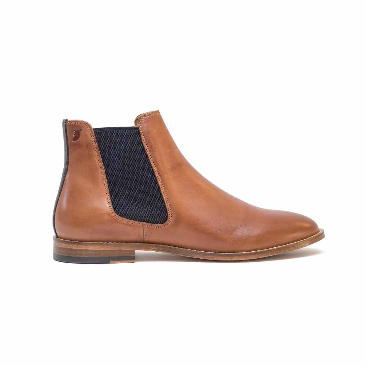 Boots Chelsea Cognac and Blue Night by Pied de Biche