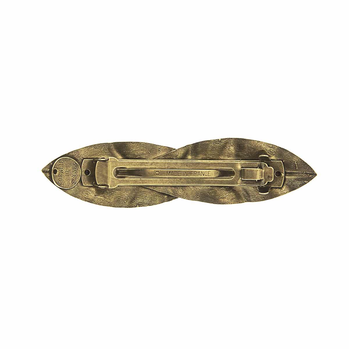 Pinza de latón para el pelo material latón bronce moda complementos pelo mujer coralie de seynes