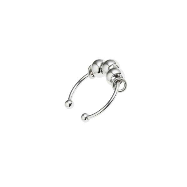 anillo jaipur plata plateado joyas mujer moda hecho a mano paris coralie de seynes