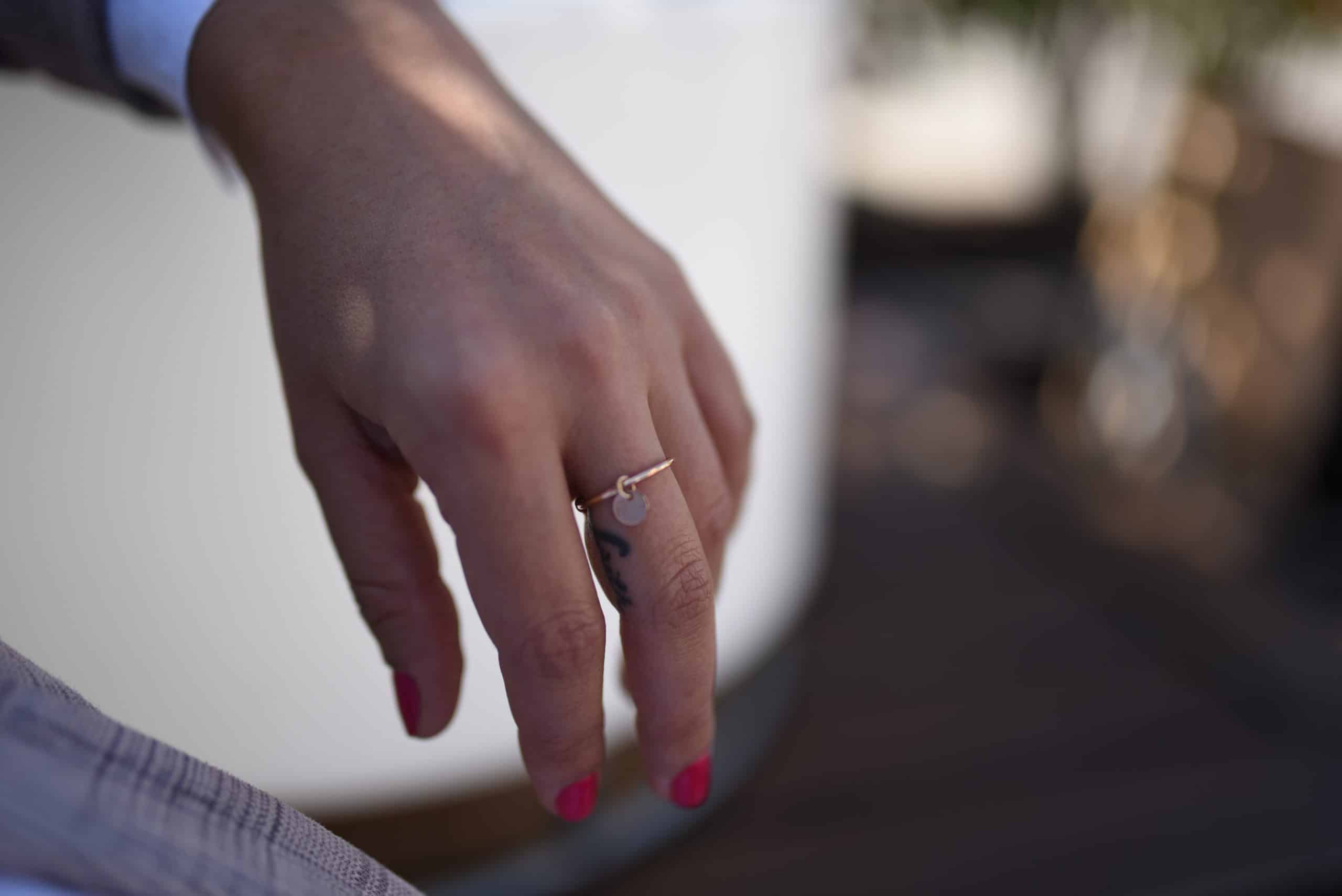 ring pastille pink gold coralie de seyne woman fashion