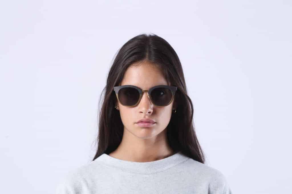 rezin goya doré ardoise naturel bois acajou rezin lunettes de solel rezin femme