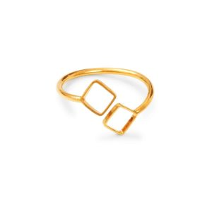 LA Gold plated ring for woman, adjustable size BDM STUDIO