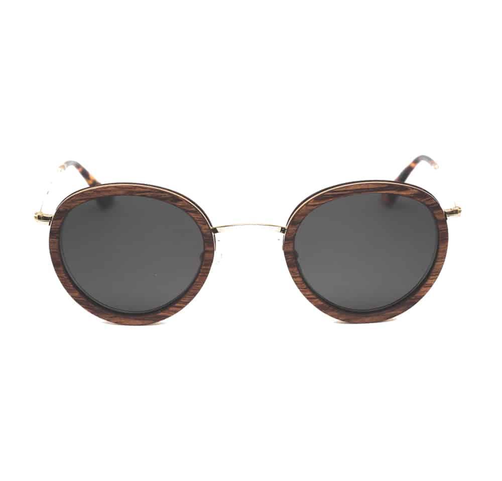 Gafas de sol hechas a mano en madera LLOYD Solar Mahogany Rezin L'Erudite Concept Store