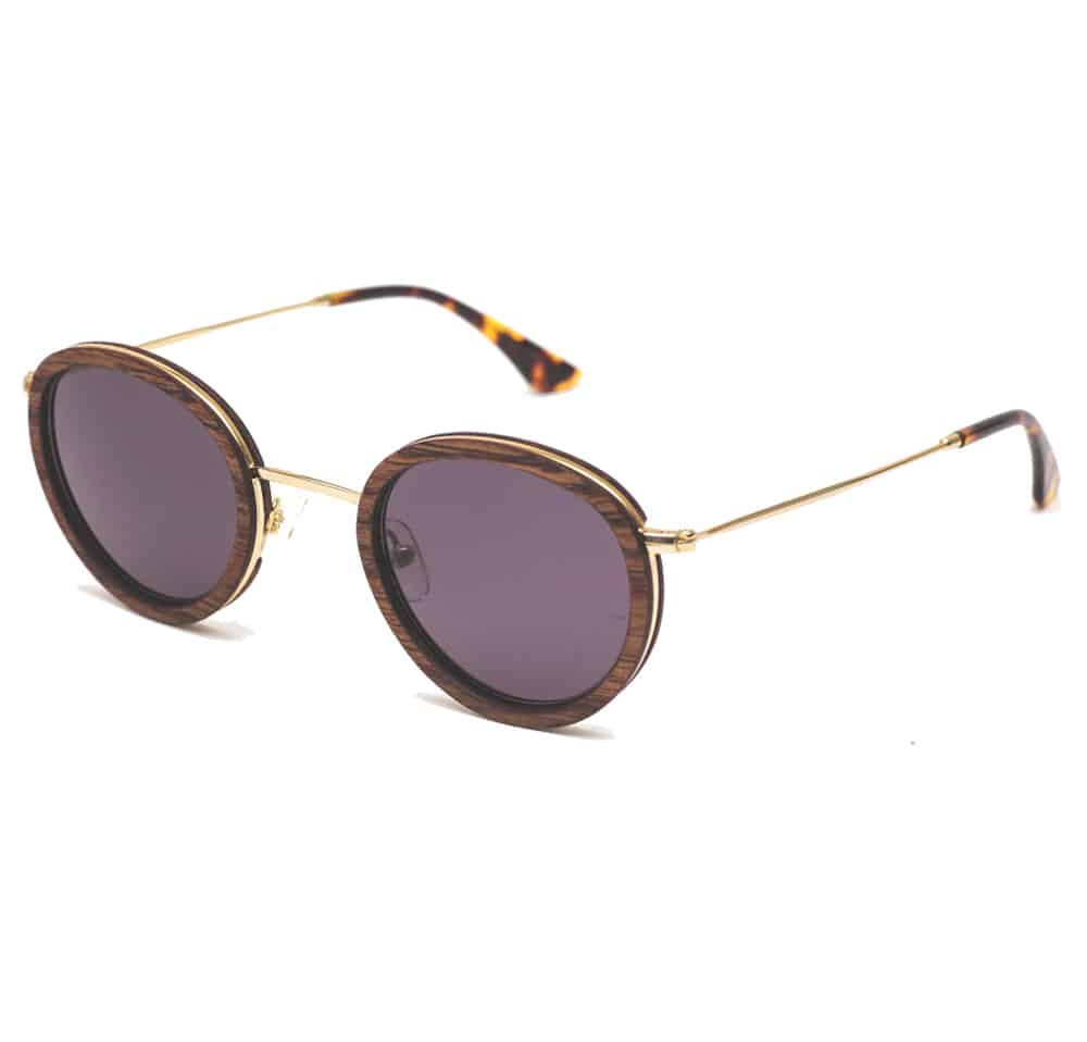 Handmade wood sunglasses LLOYD Solar Mahogany Rezin L'Erudite Concept Store