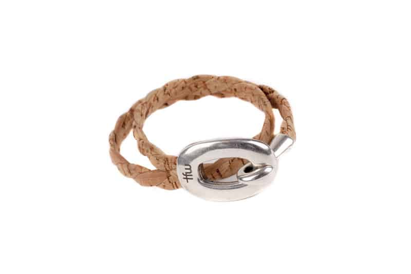 pulsera maca complementos moda mujer hombres time for wood handmade hecho a mano corcho