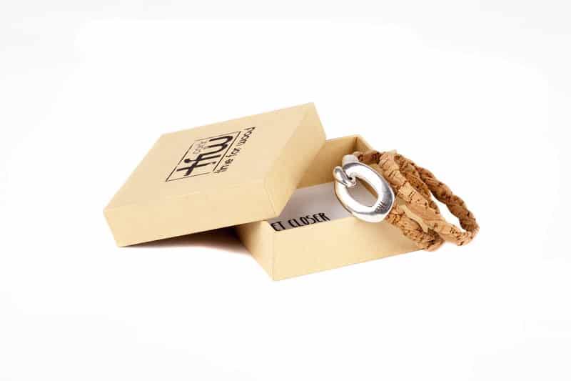 bracelet maca cuir liège time for wood l'erudite concept store
