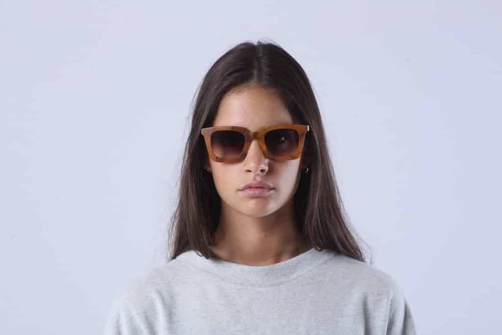 lunettes de soleil rezin bois acetate mode femme