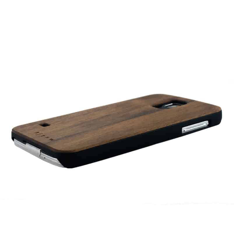 samsung galaxy coque protection bois noyer silicone time for wood