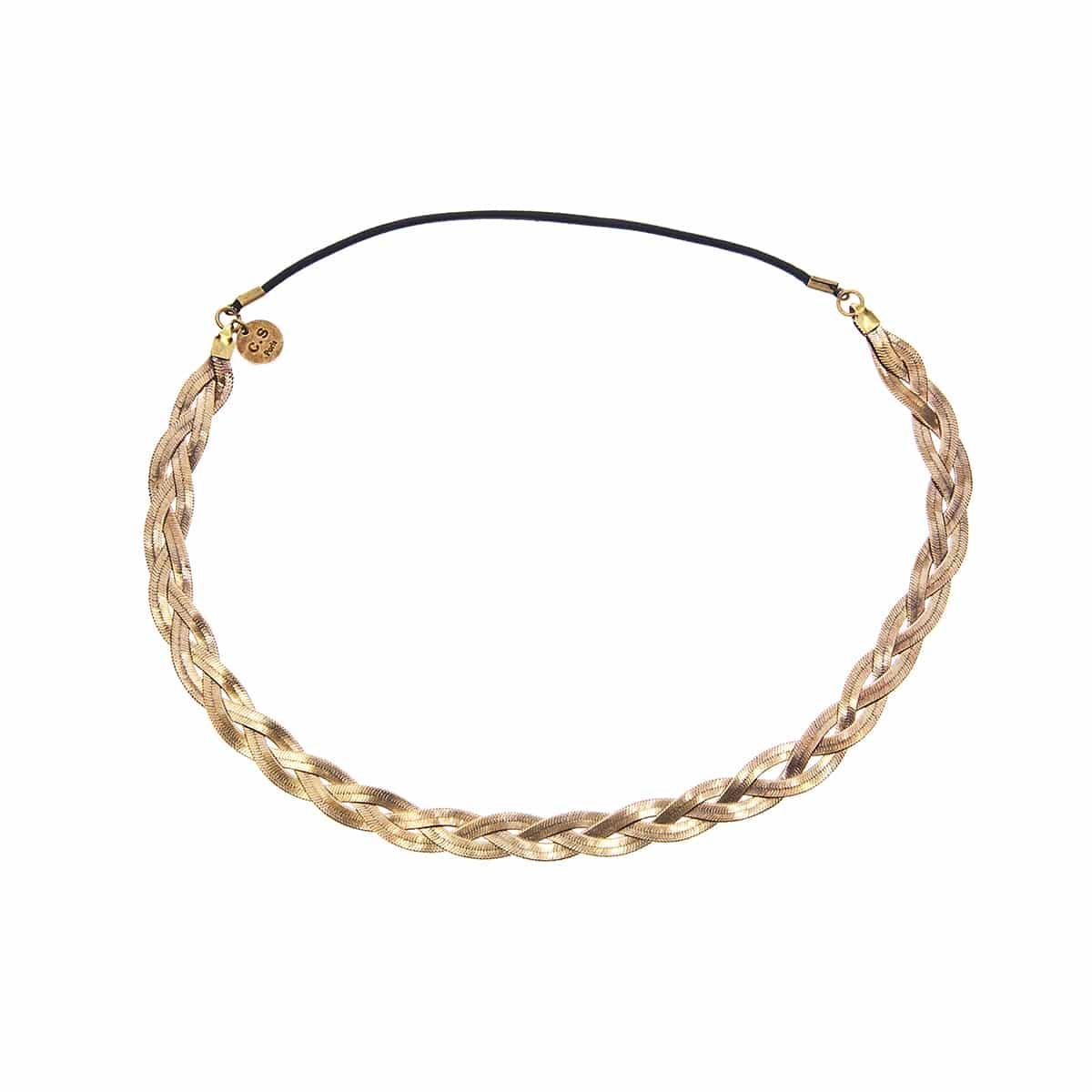 handmade headband Coralie de Seynes golden brass ajustable