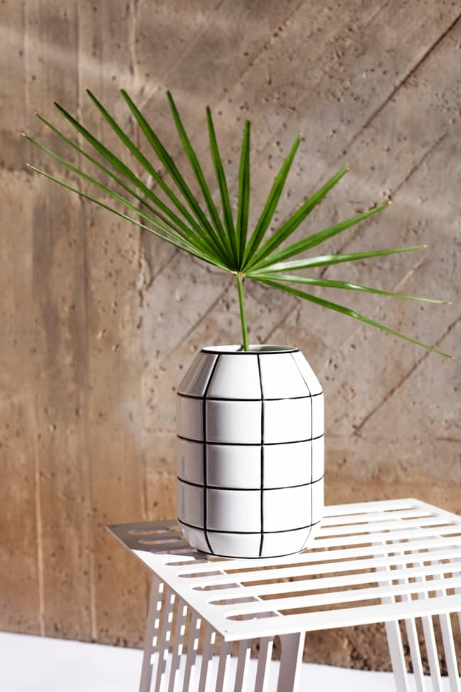 jarrón florero grid ceramica kokot studio design decoracion porcelana