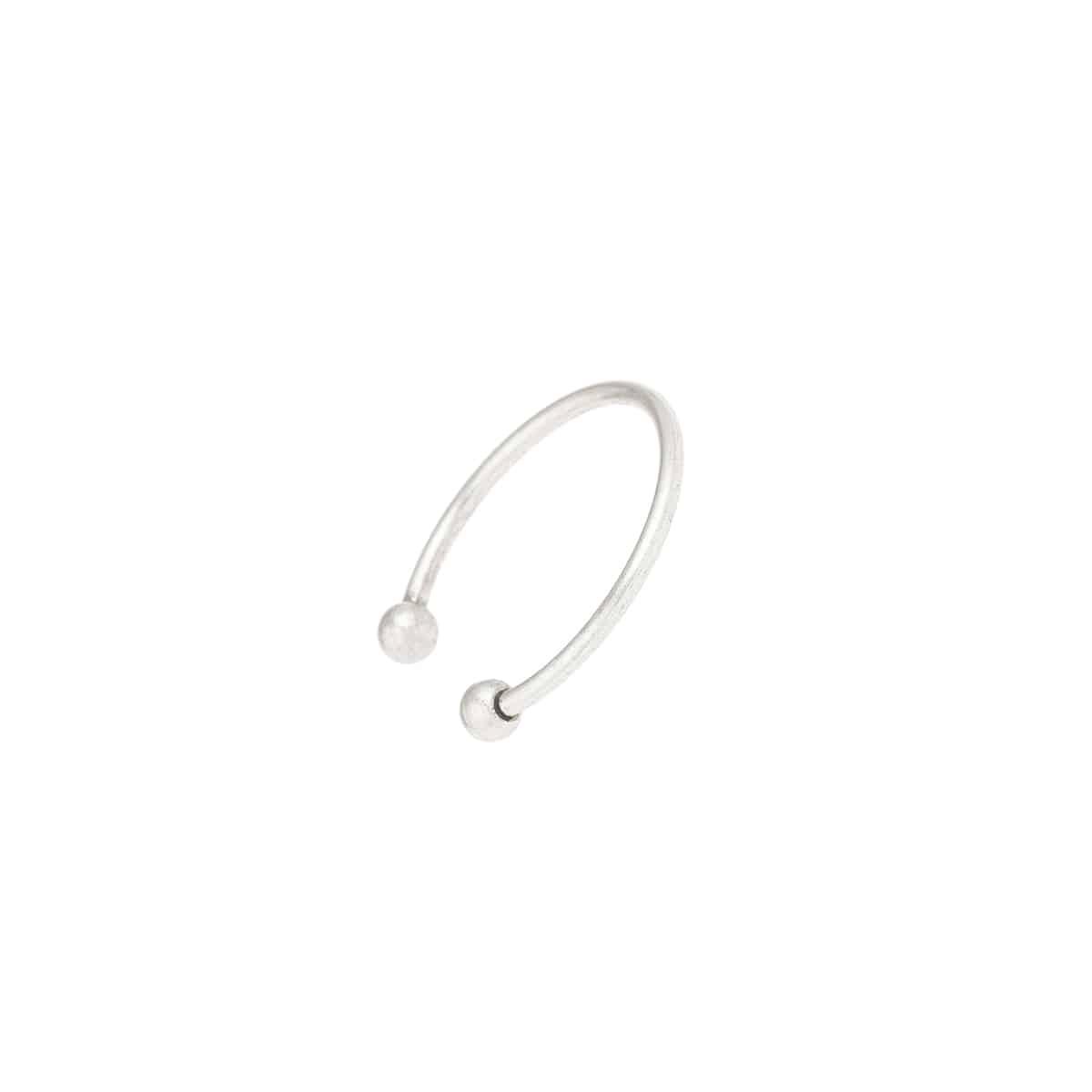 anillo plateado perles hecho a mano joyas paris mujer coralie de seynes