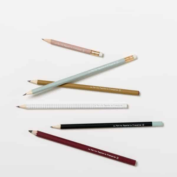 lápices de grafito y madera set the small french paper mill draw papernote handmade the erudite concept store