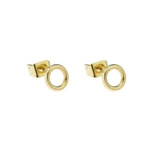 Boucles d'oreilles dorées Coralie de Seynes - L'Erudite Concept Store