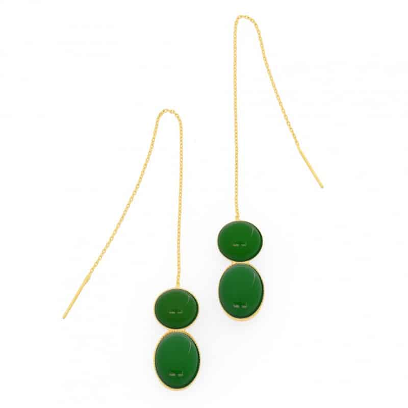 Boucles d'oreillle Hades earrings natural stone handmade collection constance l'erudite concept store