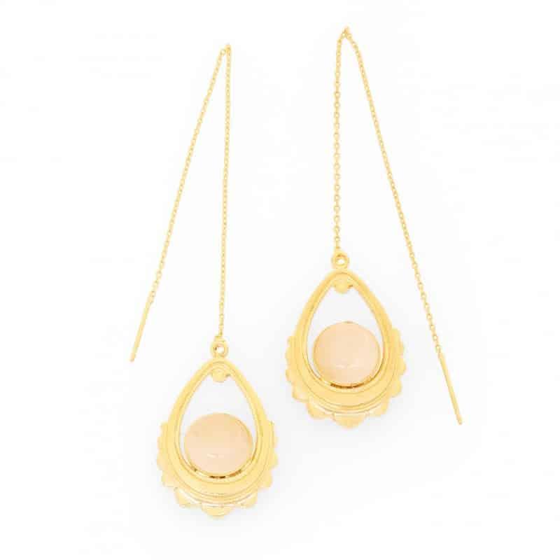 pendientes dorados rhea collection constance joyas mujer