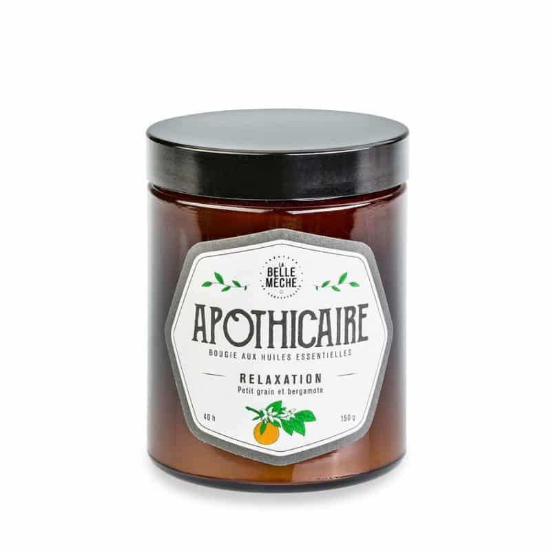 bougie huile essentielle relaxation la belle meche cire soja naturelle