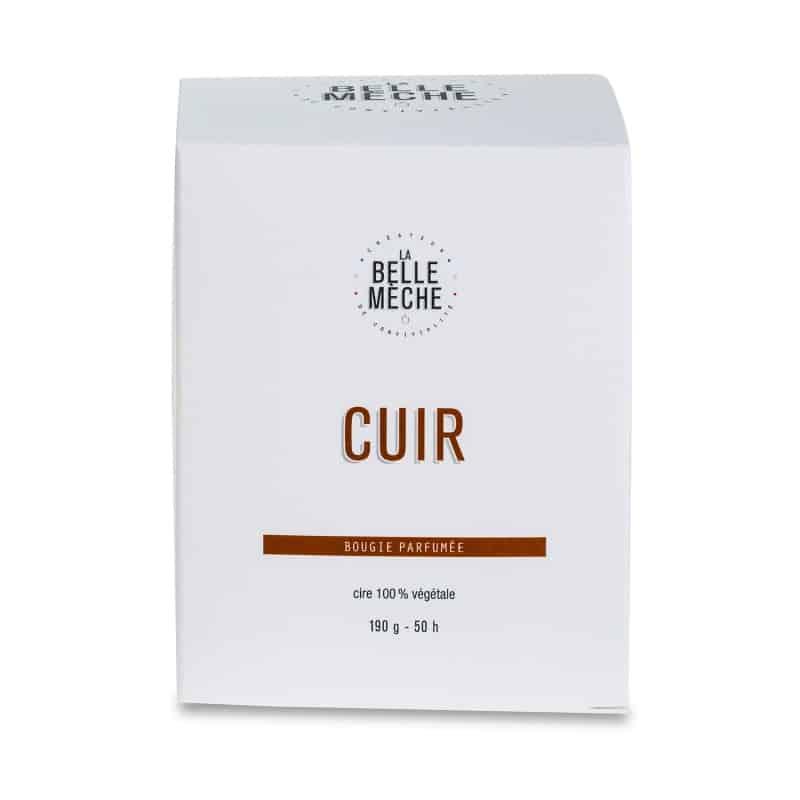 bougie naturelle cuir La Belle Mèche L'Erudite Concept Store