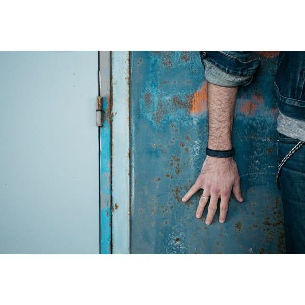 bracelet so do i hacter noir camel jean homme fait main
