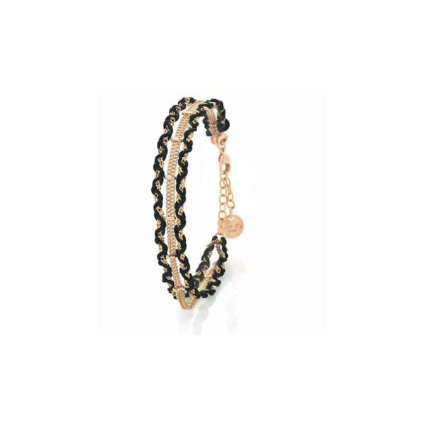 bracelet hestia collection constance black fashion jewellery woman
