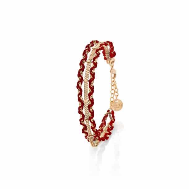 bracelet souple hestia rouge