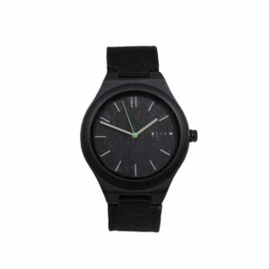 Watch CEYLIS black nylon by TIME FOR WOOD - L'ERUDITE
