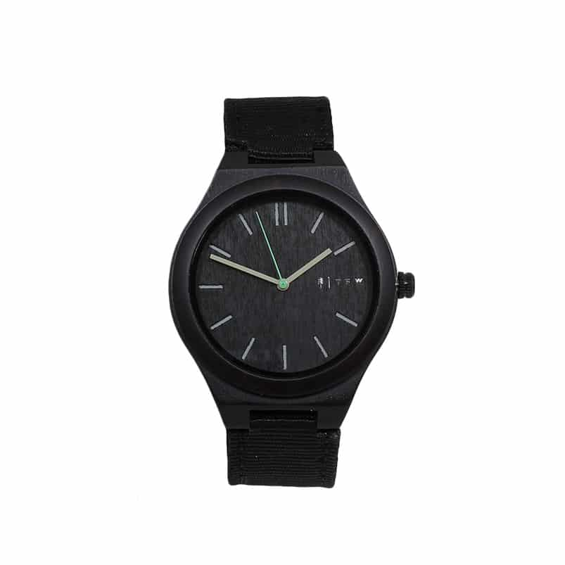 Montre CEYLIS Nylon noir par TIME FOR WOOD - L'ERUDITE