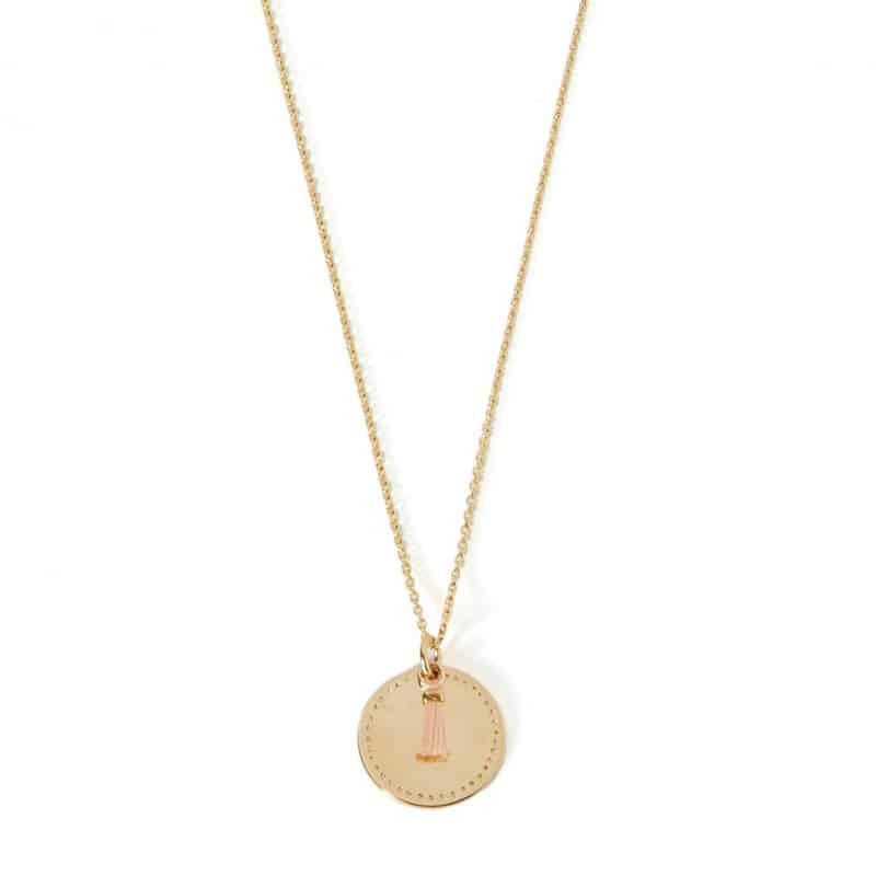 collar helena colección constance pompón oro joyas de oro hechas a mano mujer paris francia