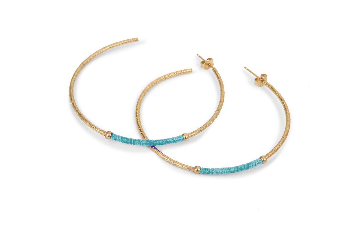 bdm studio pendientes paris joyas mujer complementos moda creoles azul rosa verd solw fasion