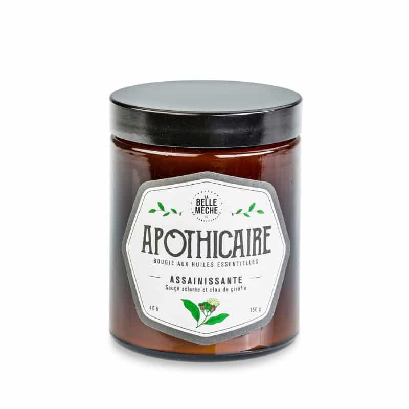 bougie la belle meche apothicaire purifiante cire naturelle soja