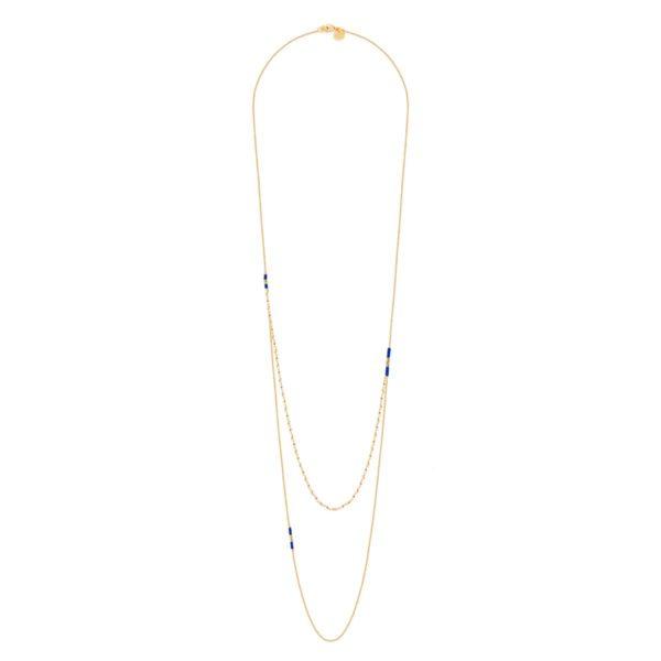 fashion woman Hindi long necklace Miyuki pearls BDM STUDIO