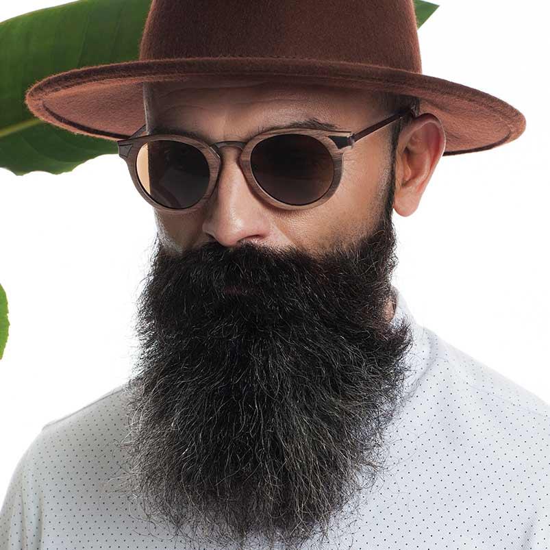 ignis lunettes de soleil bois ébène handmade time for wood accessoire mode homme femme