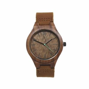 Reloj IGRIS de cuero por TIME FOR WOOD